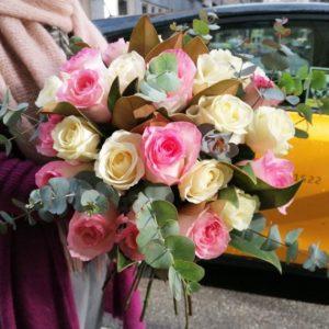 ramo-rosas-pastel-barcelona