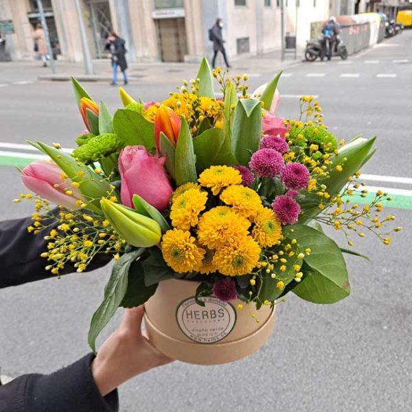 caja-sombreros-flor-variada